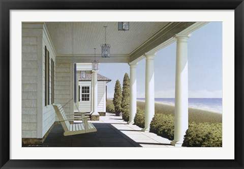 Framed Porch Lights Print