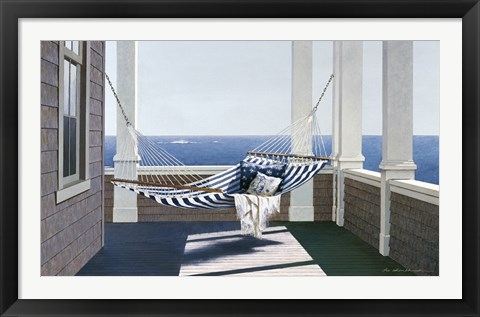 Framed Striped Hammock Print