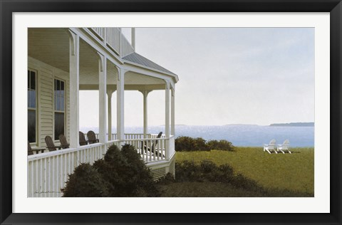 Framed Porch Chairs Print