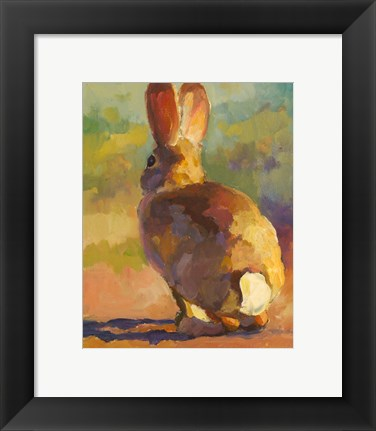 Framed Backdoor Bunny Print