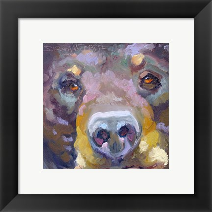 Framed Bear with Me Print