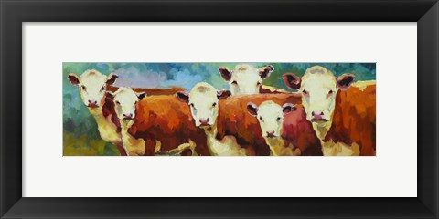 Framed Cattle Call Print