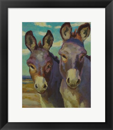 Framed Just Looking Burros Print