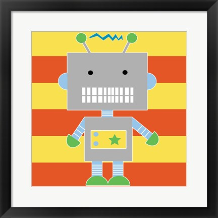 Framed Robot - Stripes Print