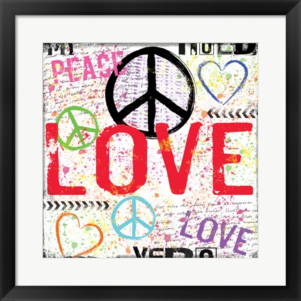 Framed Love and Peace 1 Print
