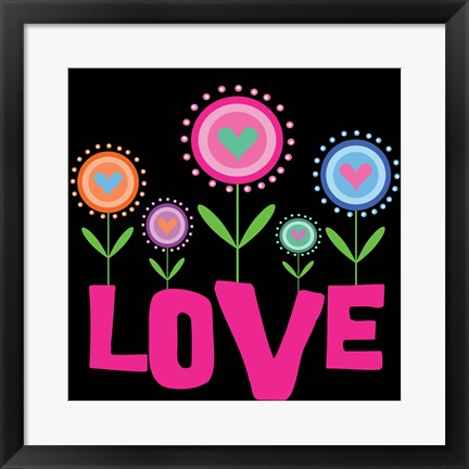 Framed Love Flowers Print