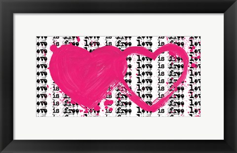 Framed Twin Hearts Print
