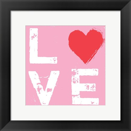 Framed Love - Pink and Red Print