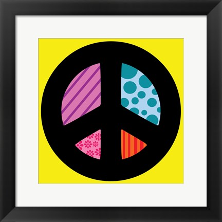 Framed Peace Collage 2 Print