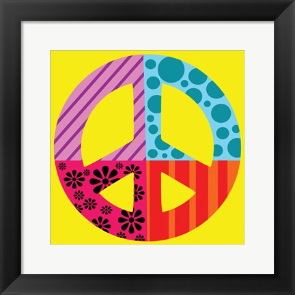 Framed Peace Collage Print