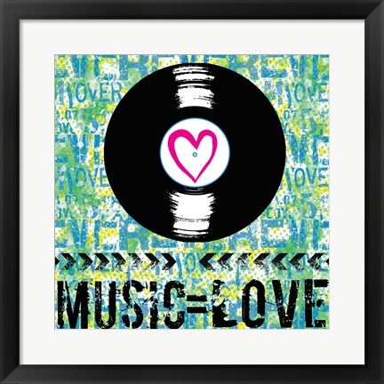Framed Love - Music 2 Print