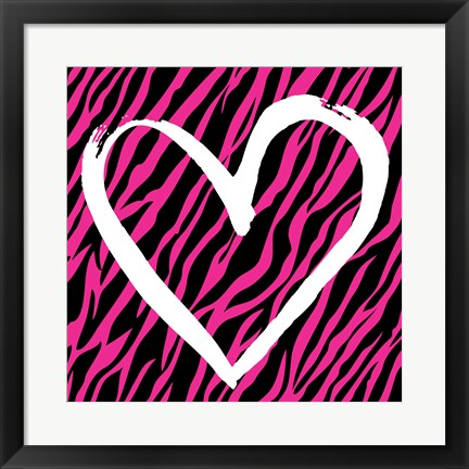 Framed Zebra Love 2 Print
