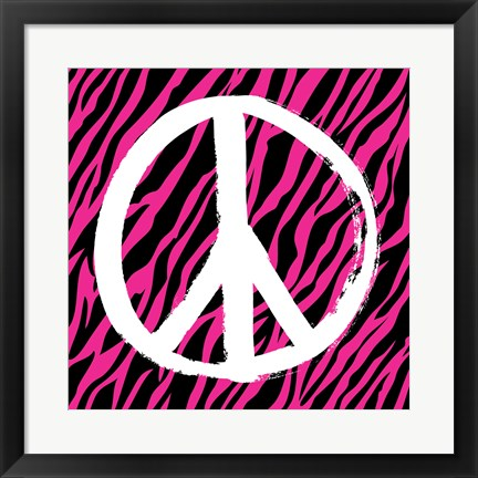 Framed Zebra Peace Print