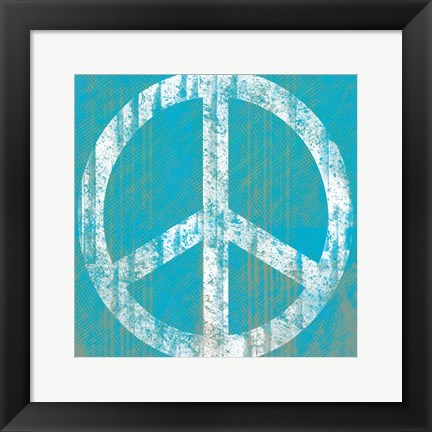 Framed Aqua Peace Print