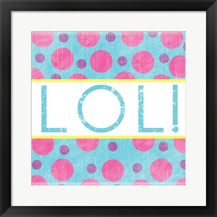 Framed LOL Dots Print