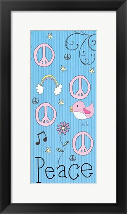 Framed Peace Panel - Blue Print
