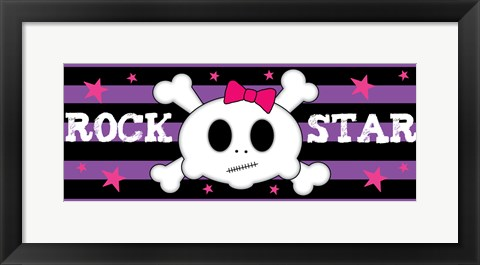 Framed Rock Star 2 Print