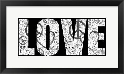 Framed Love Graffiti Print