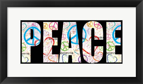Framed Peace Graffiti - Color Print