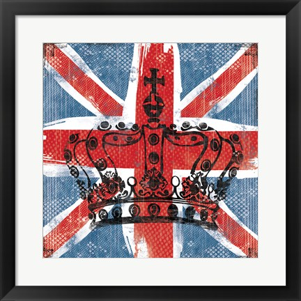 Framed Union Jack Crown 2 Print