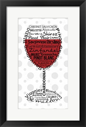Framed Red Wine 1 Print