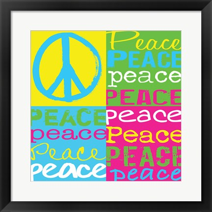 Framed Peace Squares Print