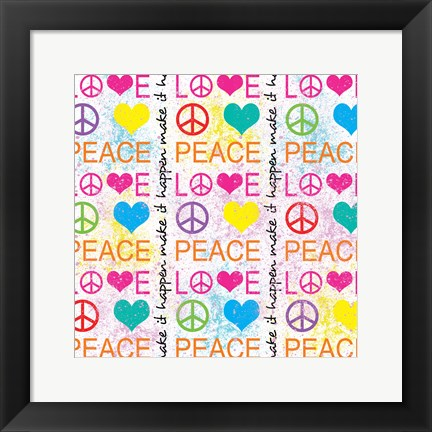 Framed Peace Love 1 Print