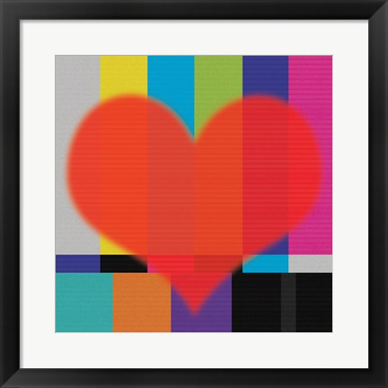 Framed Red Heart Print