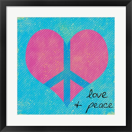 Framed Love and Peace 2 Print