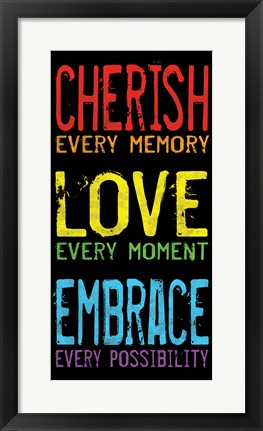 Framed Cherish Love Embrace 2 Print