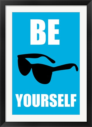 Framed Be Yourself - Blue Print