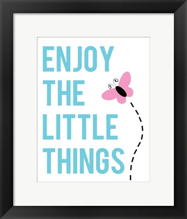 Framed Enjoy The Little Things - Butterfly Print