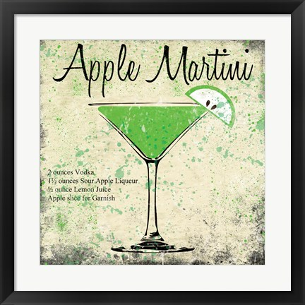 Framed Apple Martini Print