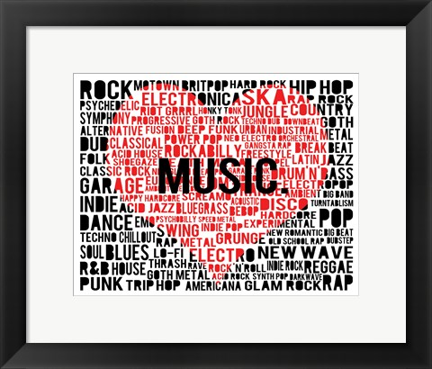 Framed Music - New Wave 2 Print