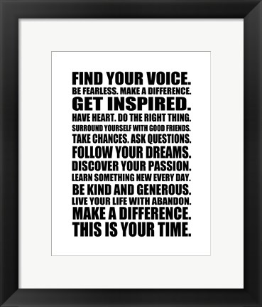 Framed Find Your Voice 1 Print