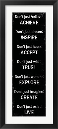 Framed Achieve Inspire Accept 1 Print