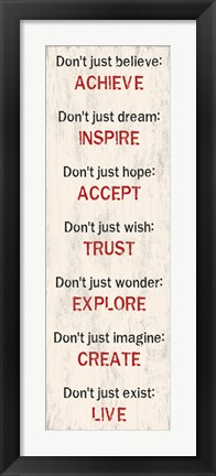 Framed Achieve Inspire Accept 3 Print