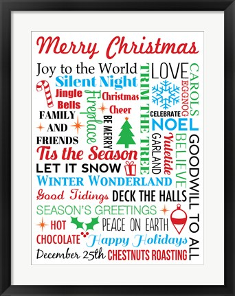 Framed Merry Christmas Print