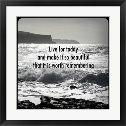 Framed Inspiration - Shore Print
