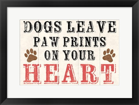 Framed Dogs Leave Paw Prints 2 Print