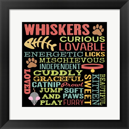 Framed Whiskers Print