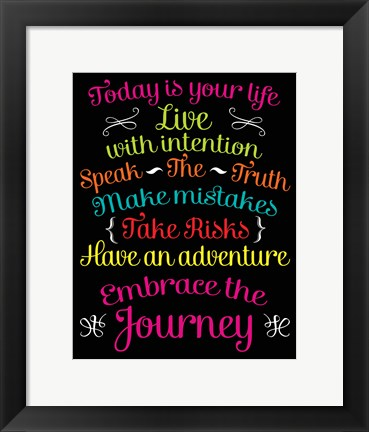 Framed Embrace the Journey Print