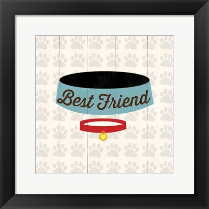 Framed Best Friend - Bowl Print