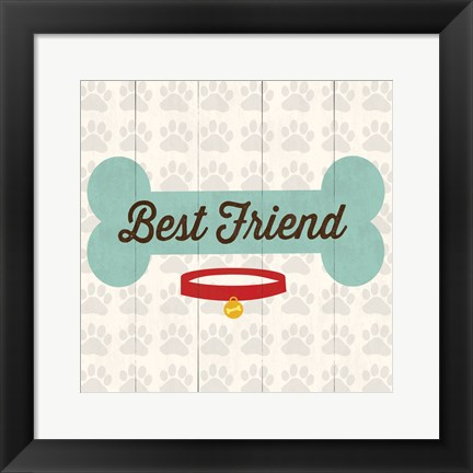Framed Best Friend - Bone Print