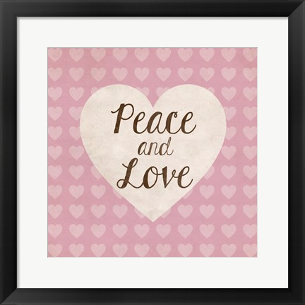 Framed Peace and Love Print