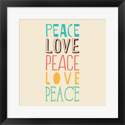 Framed Peace Love 3 Print