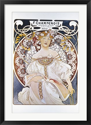 Framed F Champenois, Paris 1898 Print