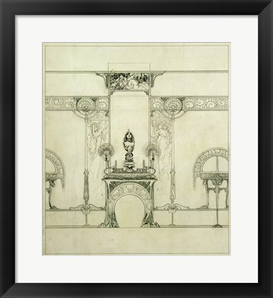 Framed Design for the Boutique of Jeweller Fouquet, 6, Rue Royale Print