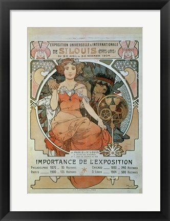 Framed Universal and International Exhibition in St Louis, 1904 Print