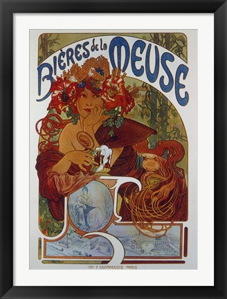 Framed Beers from the Meuse Print